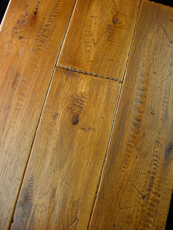 Hickory prefinished hand scraped distressed hardwood for Hardwood flooring prefinished vs unfinished