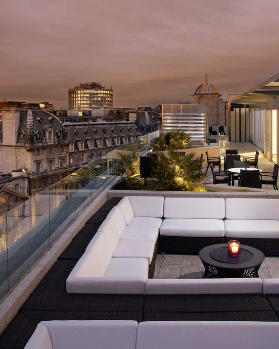 Take In The Thames And Glittering West End From Roof Top Bar