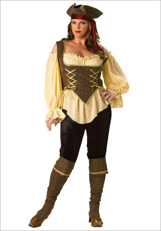 Rustic Pirate Lady Elite Collection Plus Size Adult Halloween Costume | Plus Size women`s ...