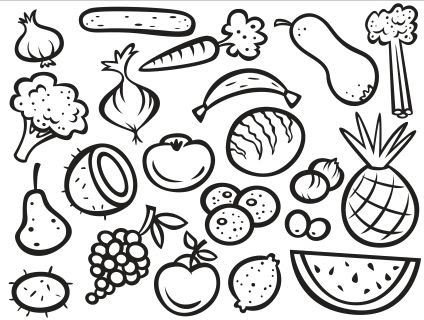 Fruits And Vegetables Coloring Pages Pdf Coloring Pages Fruits Color The Fruits And Vegetables F Vegetable Coloring Pages Fruit Coloring Pages Coloring Pages