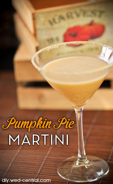 Pumpkin Pie Martini Signature Drink Recipe - Perfect for autumn or fall themed weddings, parties and events!