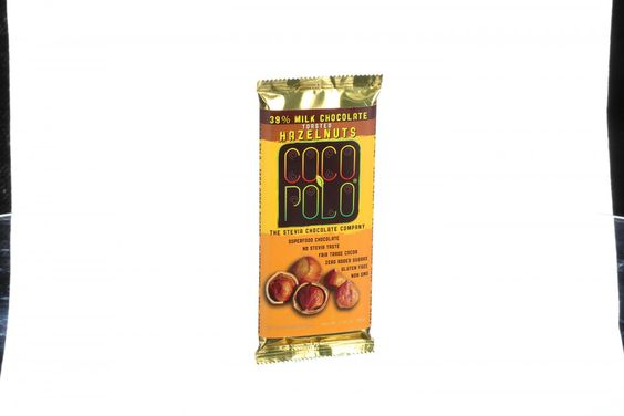 Coco Polo Chocolate Bar - 39 Percent Milk Hazelnut - Case of 10 - 2.82 oz Bars