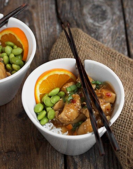 Stir-Fried Orange Peel Chicken - Skip the take-out and whip up this quick and easy orange peel chicken at home in the time it takes to cook rice!