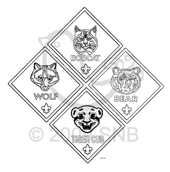 Cub Scouts Cubs And Coloring Pages On Pinterest Tiger Cub Scout Coloring Pages