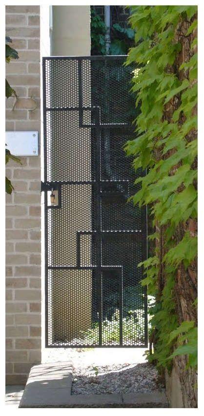 Pintu Pagar Minimalis Besi Berjaring | Ide Pagar, Minimalis, Perbaikan Rumah