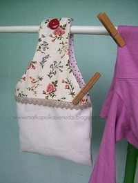 Bolsa para las pinzas. Ideal: Bags Sewed, Peg Bags, Tissue, Sewing Bags, Diy, Pegbags