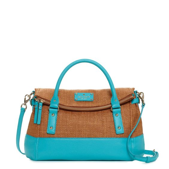 Kate Spade, COBBLE HILL STRAW SMALL LESLIE