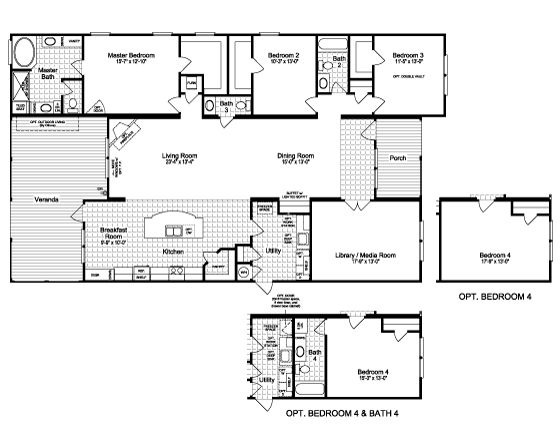 Palm Harbor Texas Floor Plans: Floor Plan:The Rockwall SCWD72A9