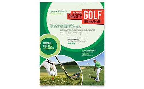Golf Tournament Flyer Template  Corp Brochure Ideas
