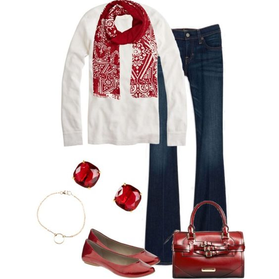"""""""Red and White"""" by vintagesparkles78 on Polyvore"""