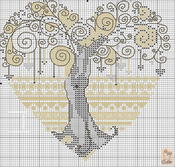 Cross-stitch Zentangled Tree.. no color chat available, just use the pattern chart as your color guide. Gallery.ru / Фото #17 - обереги - anapa-mama: