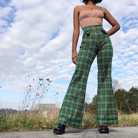 vintage 70's high-waisted flares