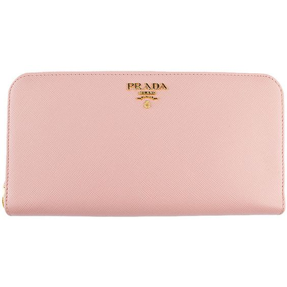 Pre-owned Prada 1M0506 Pink Orchidea Leather Zippered Wallet ($426 ...