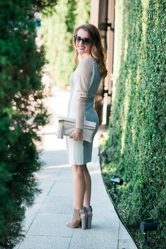 Winter fashion featuring India Hicks clutch