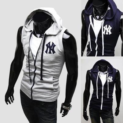 New York Yankee Sleeveless Hoodie Vest