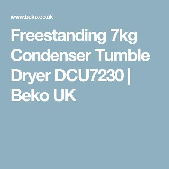 Freestanding 7kg Condenser Tumble Dryer DCU7230 | Beko UK
