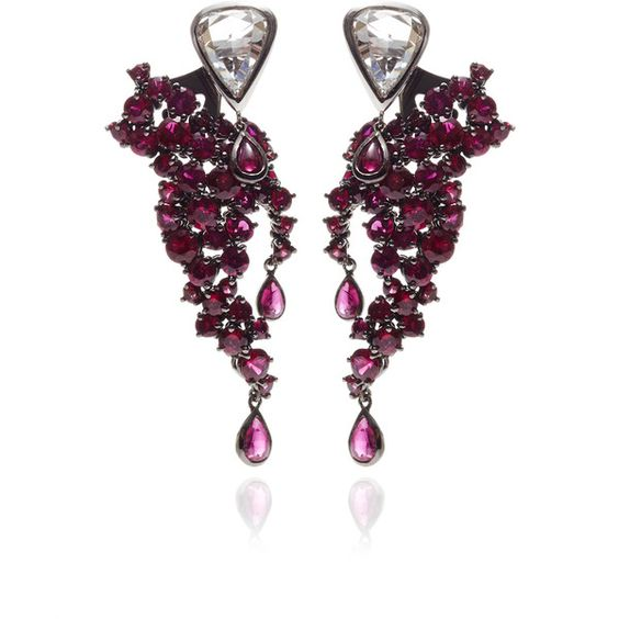 Gioia Ruby Cascade Earrings