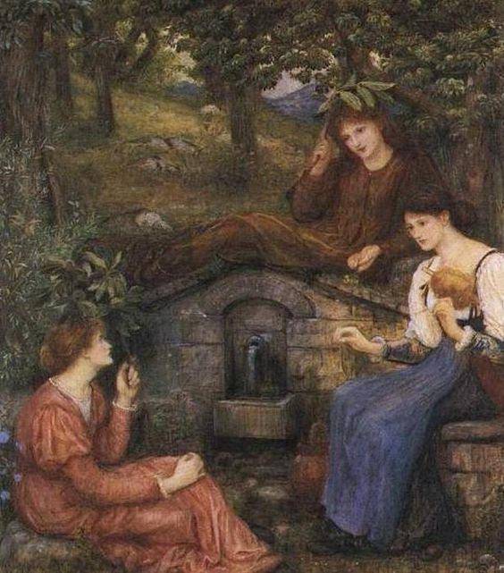 Marie Spartali Stillman (1844-1927)By a Clear Well within a Little Field, 1883