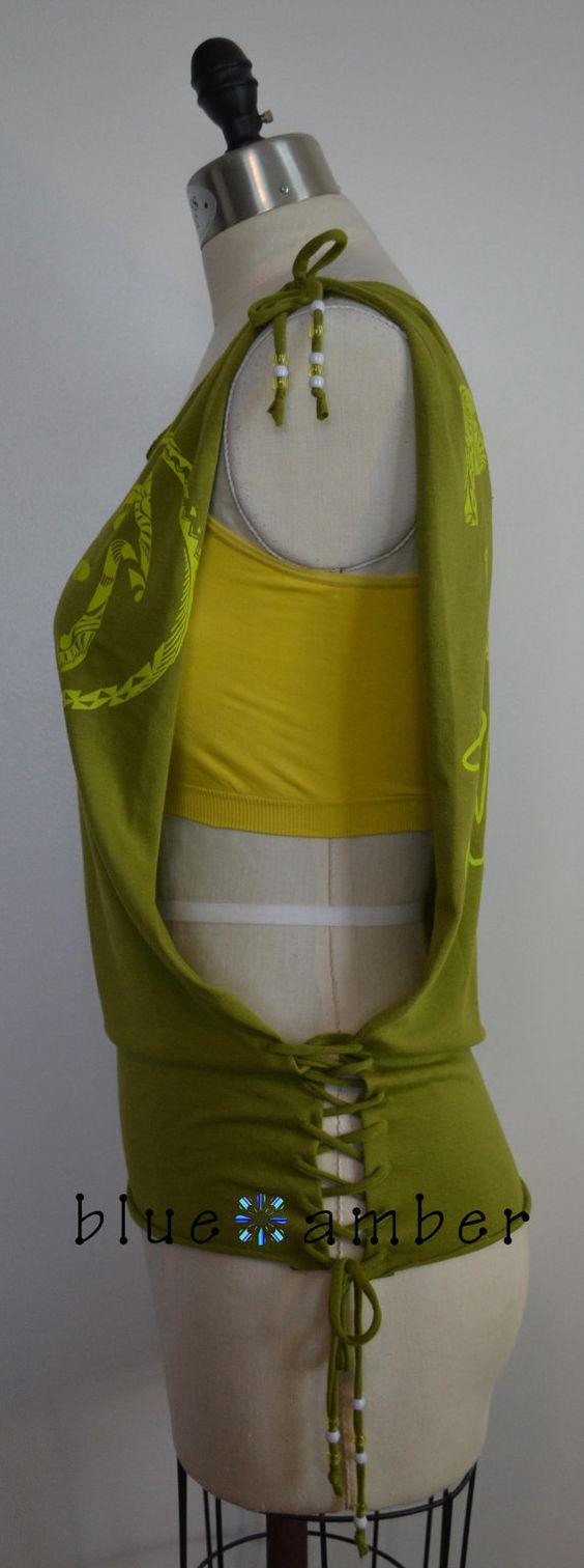 Côté ouvert lacets perlés réservoir coupe fendues par BlueAmberLLC