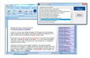 Editor y corrector ortografico/gramatical interactivo para Word para idioma español.