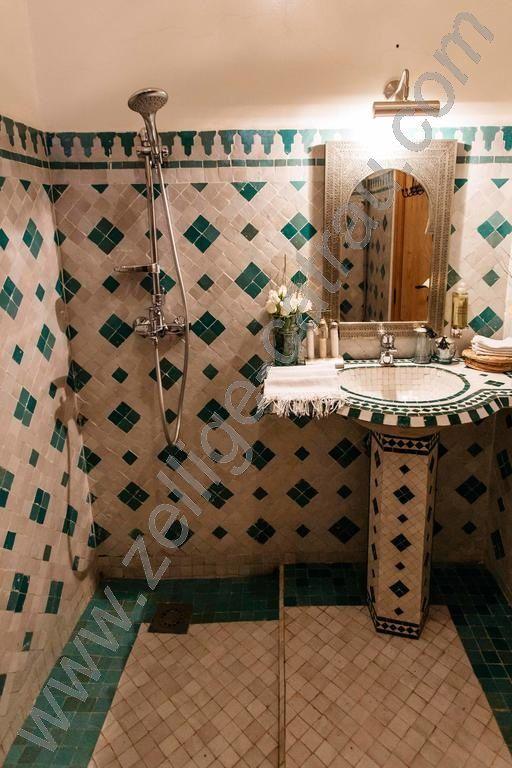 Cher Clients Si Vous Cherchez Des Meilleurs Types De Zellige Traditionnel Marocain Notre Societe Bathroom Renovations Small Bathroom Printed Shower Curtain