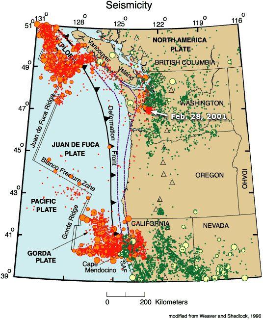 Coastal Oregon Faults