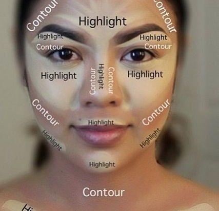 contouring makeup fat face - Google Search