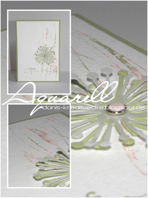 Dani's Kreativecke: Aquarell mit Prägefolder : http://danis-kreativecke.blogspot.de/2015/08/aquarell-mit-pragefolder.html