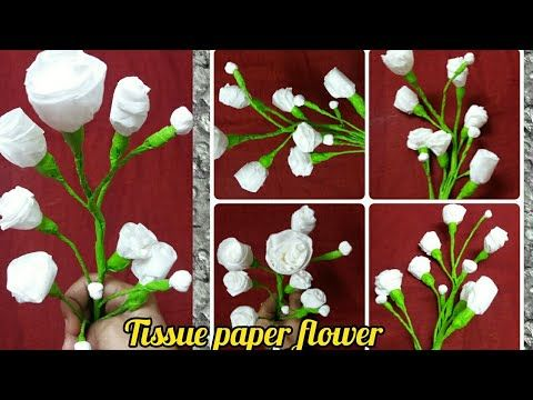Tissue Paper Flower Tutorial Step By Step Hand Craft Youtube