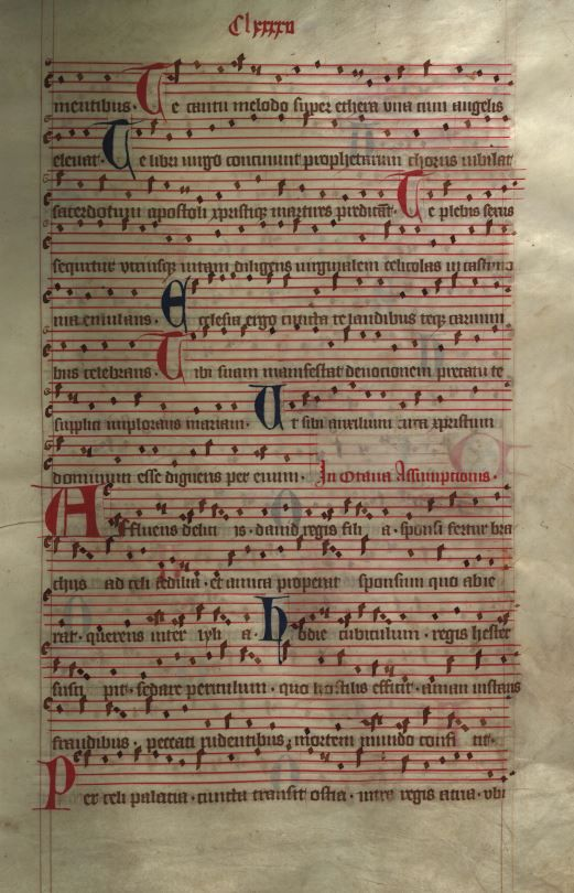 Moosburger Graduale um 1360 Moosburg Cim. 100 (= 2° Cod. ms. 156)  Folio 389