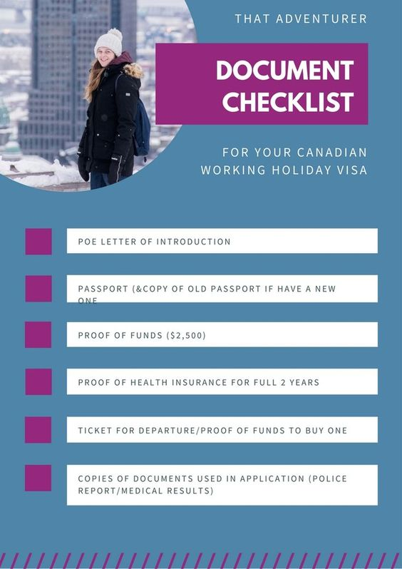 What Documents Do I Need To Bring To Canada Checklist If You Ve Successfully Applied For A Canadian Working Holiday Visa And Are About To Head Over T The Globe