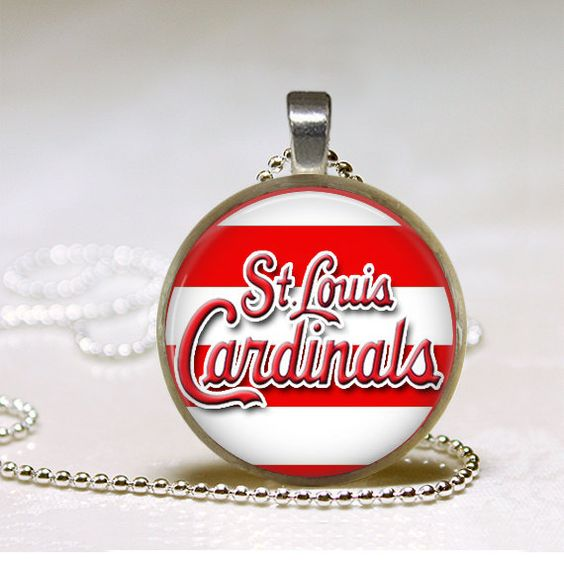 St Louis Cardinals Pendant by happytobecreating on Etsy, $6.25