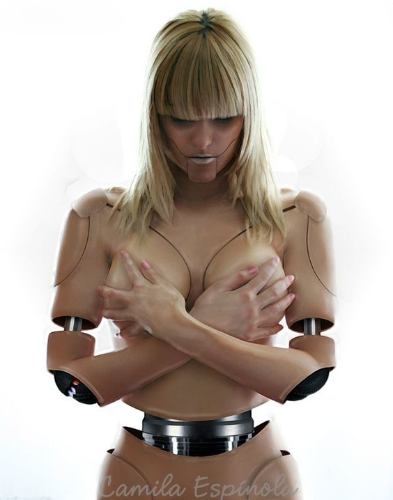 nude women with robots