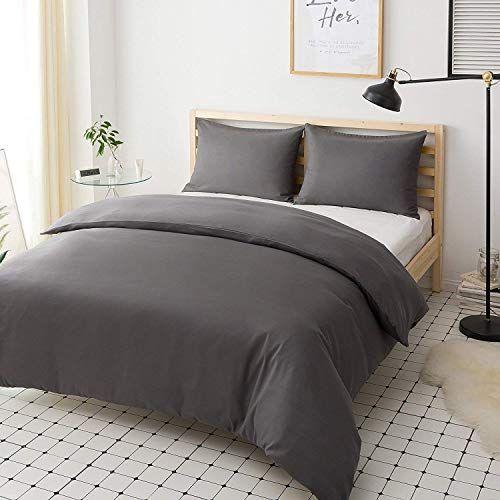 Dark Grey Duvet Cover Set Solid Bliss Sateen Dark Grey Duvet Covers Duvet Cover Sets Duvet Bedding