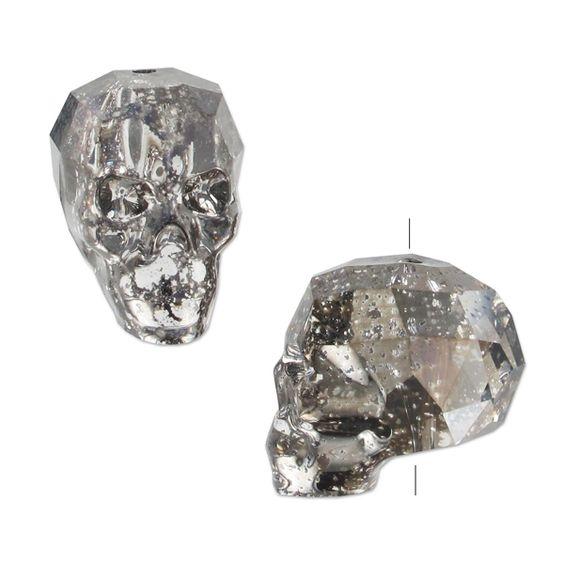 Tête de mort Swarovski 5750 19 mm Crystal Black Patina
