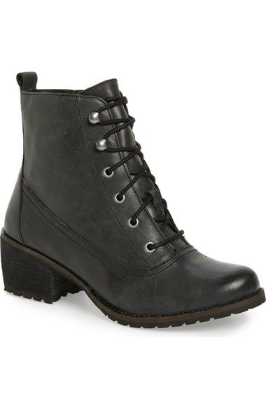 Aetrex Skyler Lace-Up Zip Bootie (Women) available at #Nordstrom