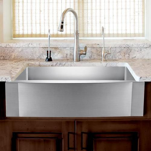 24 Vaiden Stainless Steel Single Bowl Farmhouse Sink Rippled
