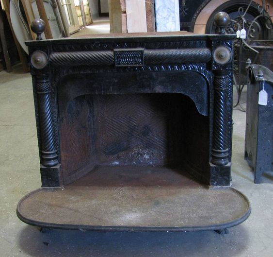 Cast Iron Franklin Insert BJT - Cast Iron Fireplace, Irons And Fireplaces On Pinterest
