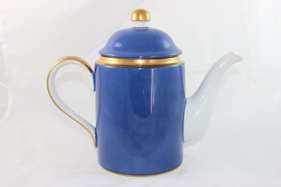 Fitz and Floyd Cerulean Blue Coffee Pot Server by GRCTreasures on Etsy