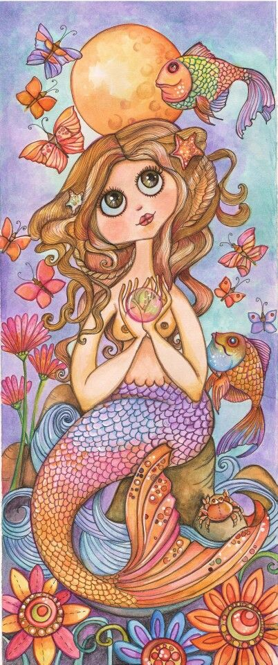 The Mermaid Art Print by Lidia Gennari
