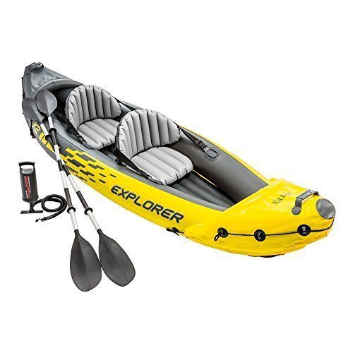 Stansport 2 Person Sea Cloud Vinyl Boat Kit Yellow Blue Boat