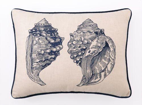 DL Rhein Double Conch Throw Pillow