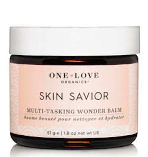 Skin Savior removes dirt and makeup without stripping the skin and moisturizes
