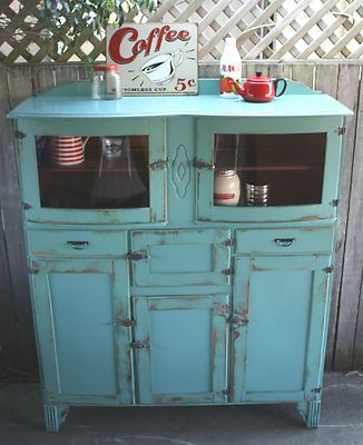 rustic vintage kitchen dresser hutch buffet sideboard