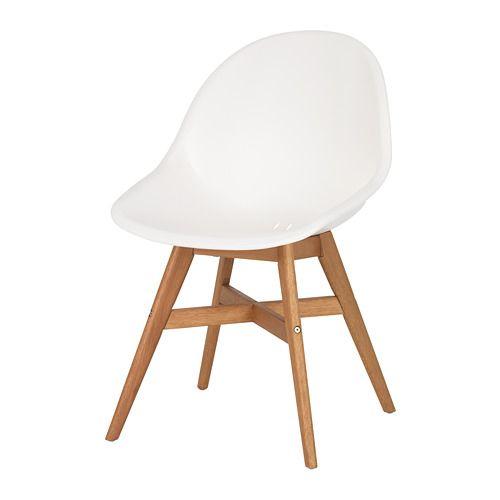 FANBYN Chaise blanc | Chaise fauteuil, Salle à manger ikea