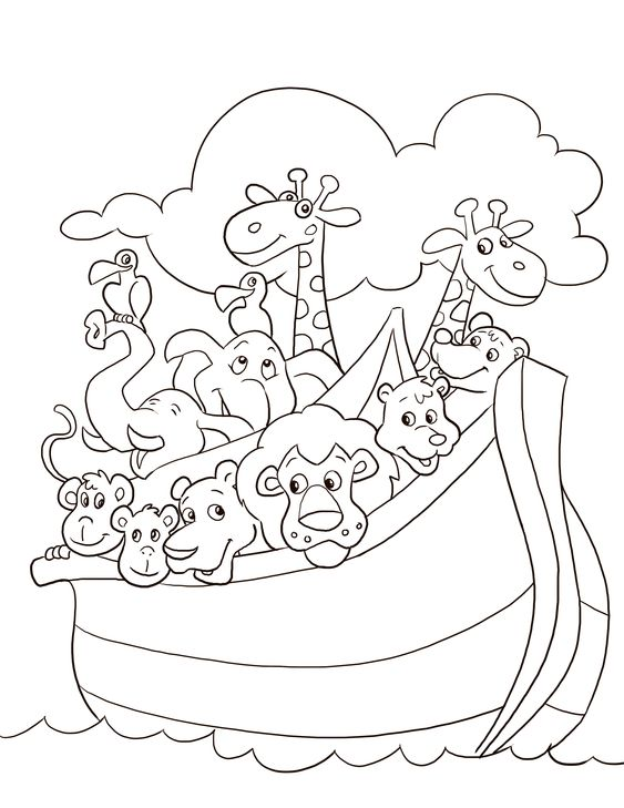 noah 39 s ark coloring page parshat noach pinterest coloring colouring pages and noah ark. Black Bedroom Furniture Sets. Home Design Ideas