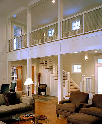 The balcony high ceilings and stairs on pinterest for 2nd living room ideas