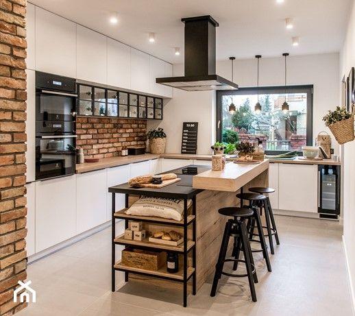 Rauvisio Crystal Srednia Otwarta Biala Kuchnia W Ksztalcie Litery L W Aneksie Z Wyspa Z O American Kitchen Design Modern Kitchen Design Online Kitchen Design