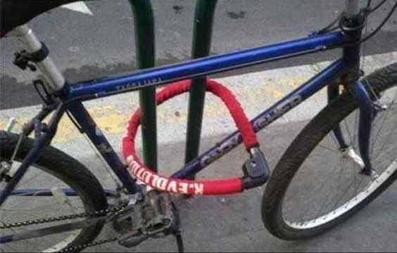 This person who tried to lock their bike: | 25 People Who Tried