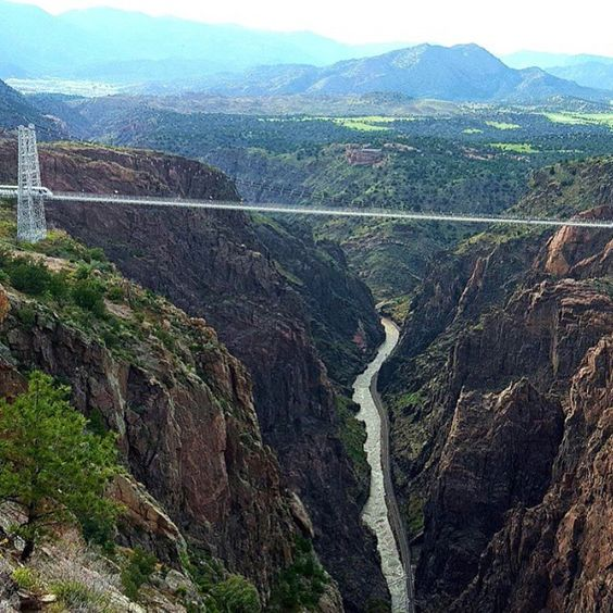 We could stare at the #beauty of the #RoyalGorgeBridge all day, every day. Oh wait, we do! #Colorado #Love Credit @growing_kenny
